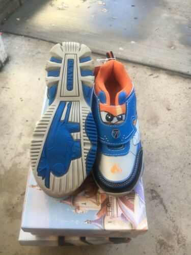 Disney Planes Toddler//Youth Boy/'s Blue//Orange//Silver//Black Light-Up Sneak Size 8
