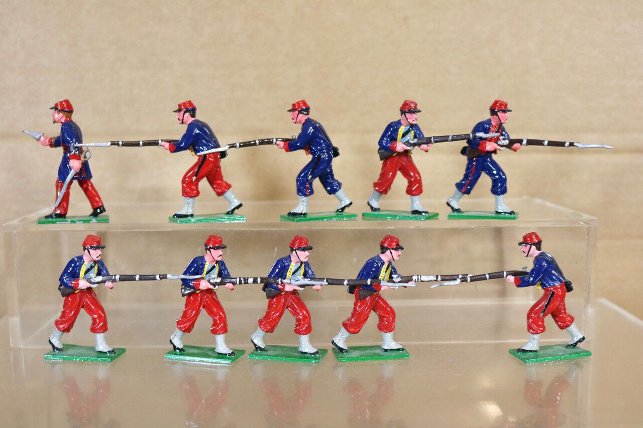 orden ahora disfrutar de gran descuento Trofeo Miniatura Guerra Civil Americana 10 Unión Soldados Zouaves Avanzando Avanzando Avanzando Pjm  nuevo listado