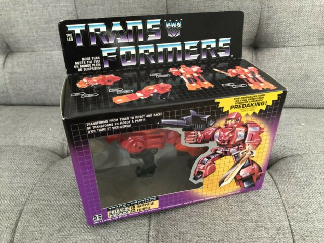 Unopened Transformers Original G1 1986 Predacon Rampage (Mint figure, C-9 box)
