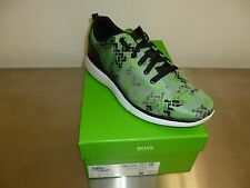 HUGO BOSS Gym Print Sneaker Shoes - Bright Green - Size 11 US - NEW IN BOX