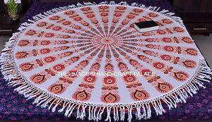 Indian-Hippie-Mandala-Beach-Tapestry-Throw-Yoga-Mat-Cotton-Round-Wall-Hanging
