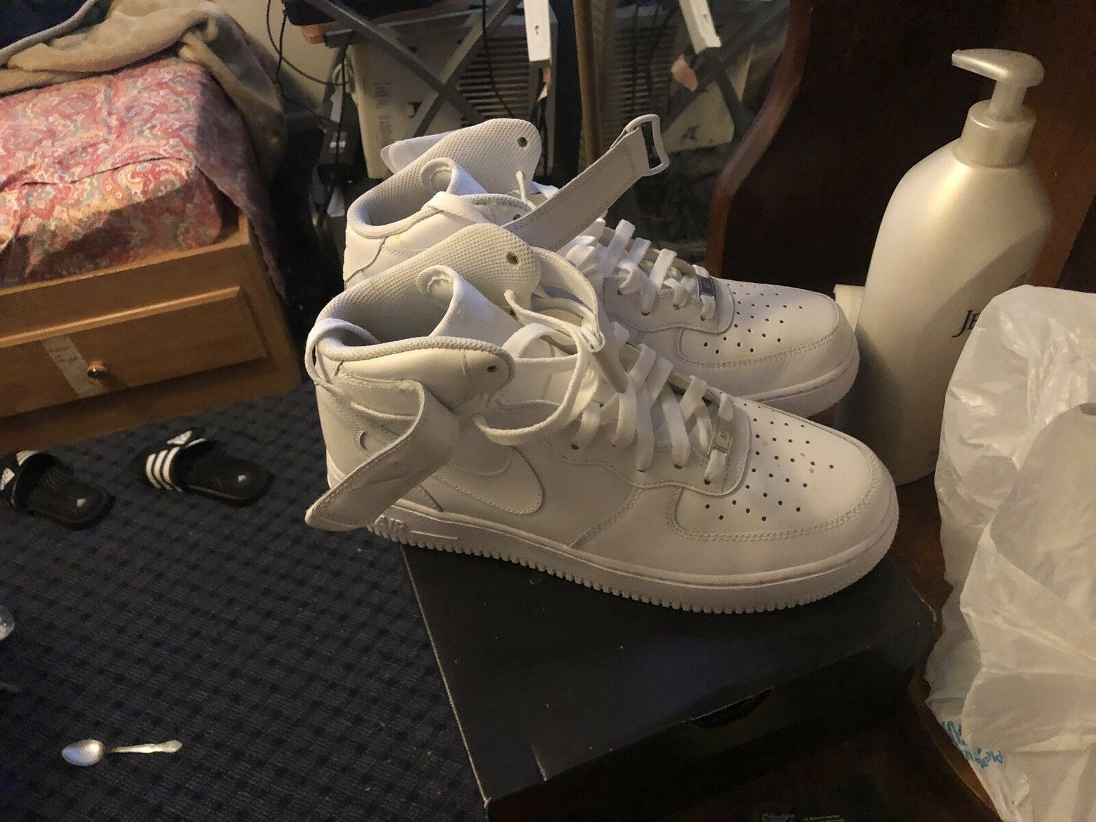 315121 115 - NIKE AIR FORCE 1 HIGH size 10 (WHITE)
