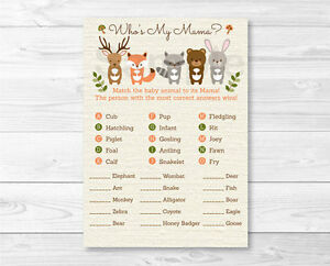photo relating to Baby Animal Match Game Printable identify Data around Woodland Pets Little one Shower Little one Animal Game Match Printable