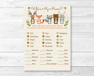 Légend image inside baby animal match game printable