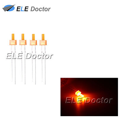 100pcs 2mm Orange Diffused LED Diodes Flat Top Leds Light Lamp Free Shipping New