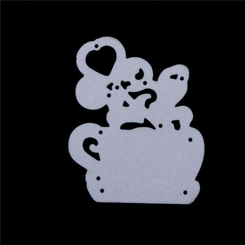 Cups of Flower Metal Cut Dies Stencils For DIY Scrapbooks DIY Albums Card B CYC