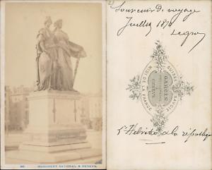 Garcin Suisse Geneve Le Monument National Vintage CDV