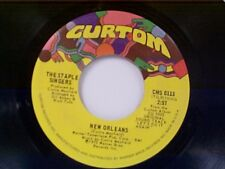 """STAPLES SINGERS """"NEW ORLEANS / A WHOLE LOT OF LOVE"""" 45"""