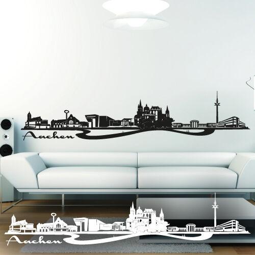 ▌WANDKINGS▐ Wandtattoo Skyline Aachen Dreiländereck Größe /& Farbe wählbar