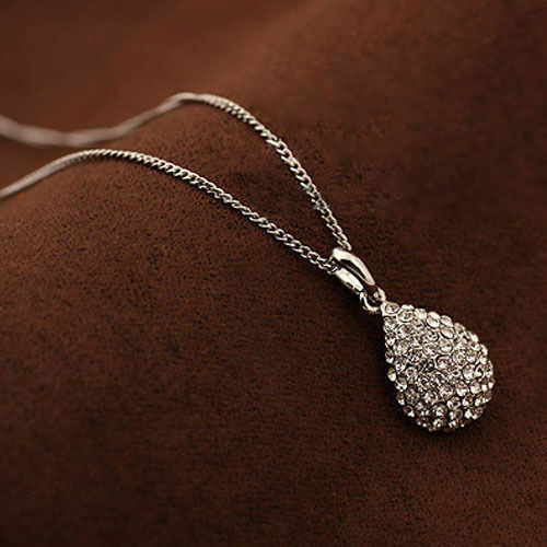 Fashion Men Women Gold Silver Plated Crystal Beatle Pendant Necklace Earring Set