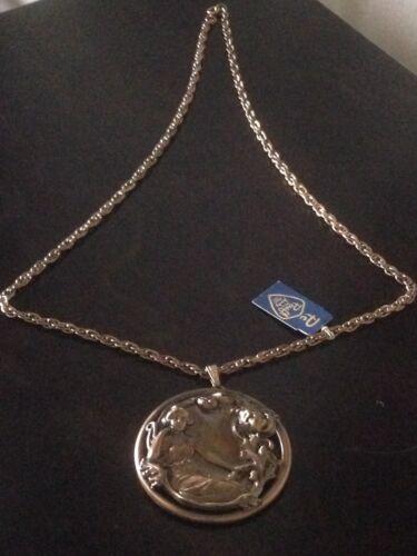 "Details about  /Pc 24/"" Chain Botanical Goddess 2/"" Bronze Medallion P-craft Fine Jewelry"