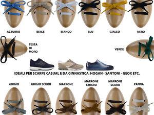 17b0acfd51 Dettagli su Stringhe scarpe piatte in cotone ideali per scarpe Hogan, Geox,  Santoni, Clarks