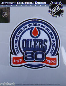 NHL-Hockey-Patch-Edmonton-Oilers-30th-Years-Official-Licensed