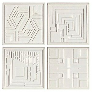 Details About Frank Lloyd Wright Textile Block Designs Etched Coasters