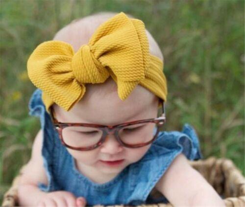 Girl Children Baby BIG Ribbon Bow Turban Hair Head band Headband Wrap Bandana