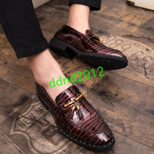 hommes pour à Chaussures bout cuir Oxford rond en formelles imprimé f1q8z