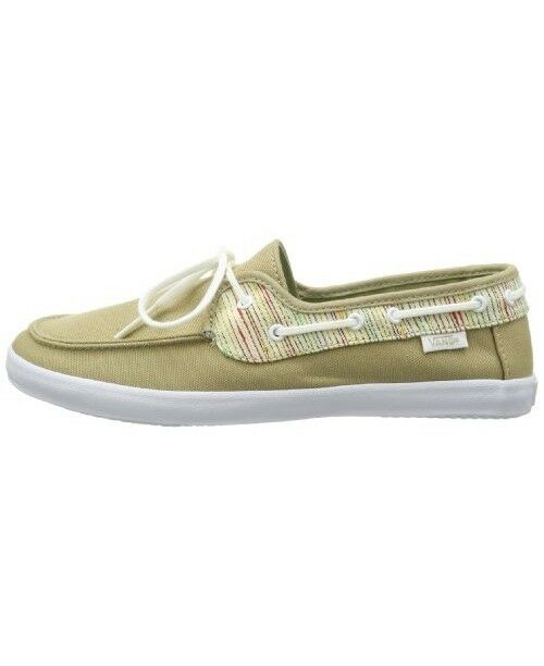 fc7734b0db95 VANS off The Wall Womens Surf Chauffette Stripes Khaki White Boat Shoes 5