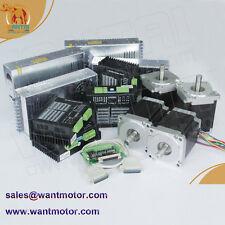 【USA free】4 Axis Nema 34 CNC Stepper Motor 1600oz-in & Driver DQ860MA & Power