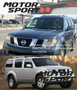 4pcs Dark Smoke Out-Channel Visor Rain Guards For Nissan Pathfinder 2005-2012
