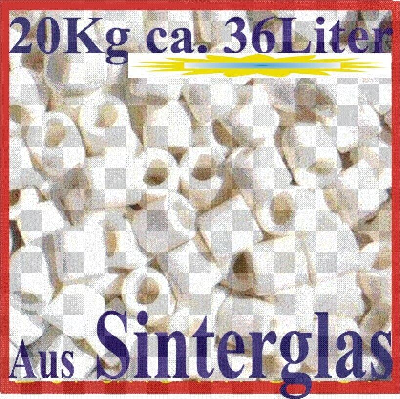 Filterröhrchen aus Sinterglas Poraglass 20kg   ca. 36 Liter  im Filterbeute