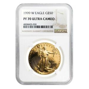 1999-W-1-oz-50-Proof-Gold-American-Eagle-NGC-PF-70-UCAM