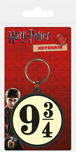 Harry Potter (9 3/4) Rubber Keychain / Keyring *OFFICIAL PRODUCT*