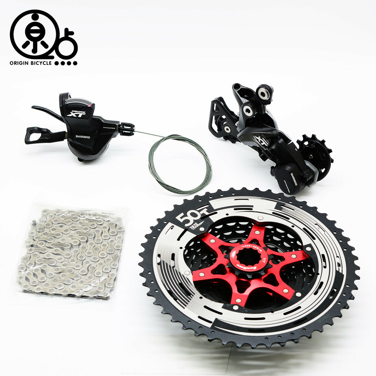 SHIMANO Deore  XT M8000 Bike Groupset Drivetrain Kit Group 11-Speed Derailleur  free and fast delivery available