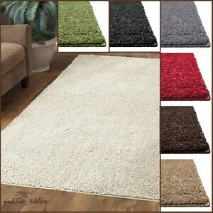 new shag area rug thick and soft home big plush carpet living room accent decor ebay. Black Bedroom Furniture Sets. Home Design Ideas
