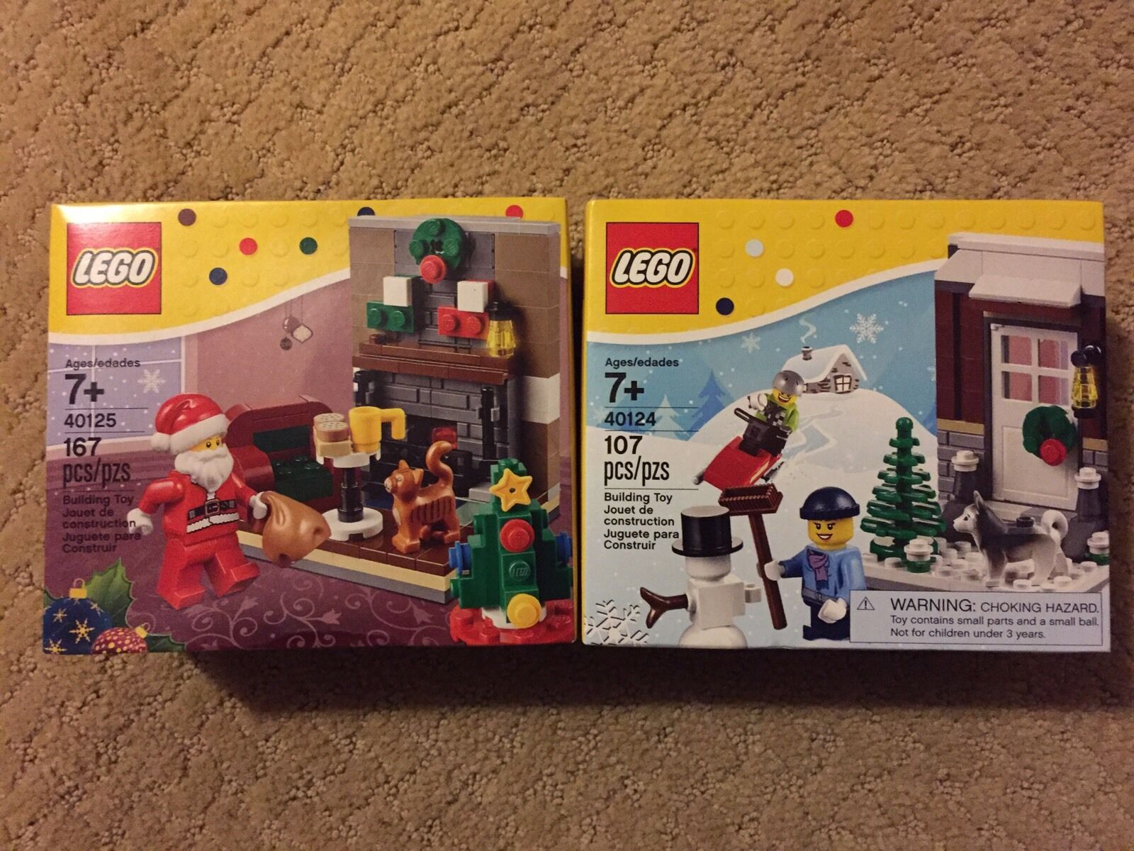 LEGO 40124 Winter Fun Fun Fun and 40125 Santa's Visit Holiday Sets NEW 7fc0ca