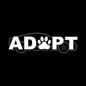 ADOPT-Sticker-Dog-Cat-Window-Paw-Print-Pet-Rescue-Puppy