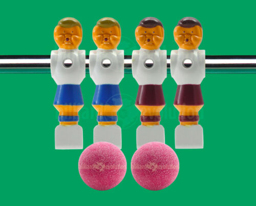 """4 Old Style Foosball Men for 5//8/"""" Rod-2 Red//2 Blue 2 Red Textured Foosballs"""