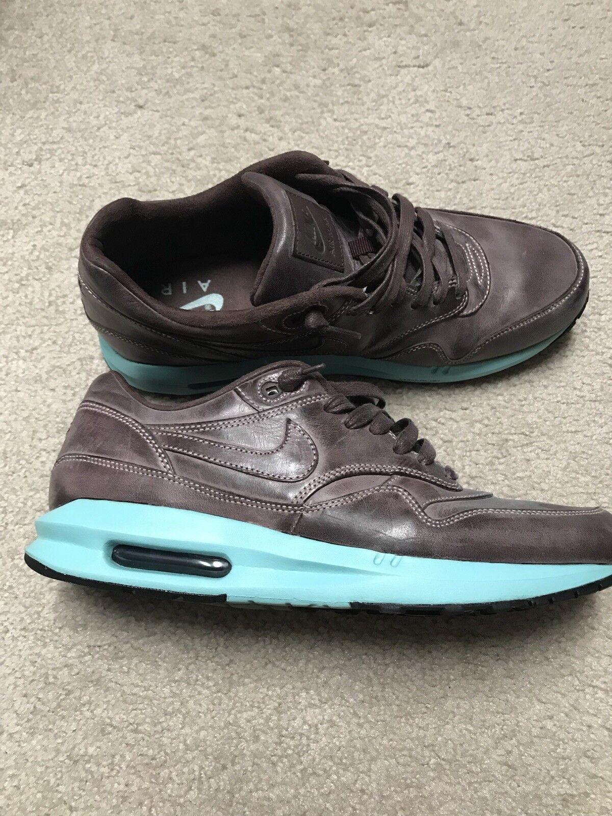 Nike air max 1 poliertes leder / insel lunar grüne männer - 10