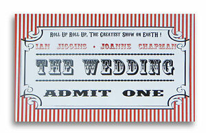 Personalised Ticket Style Wedding Invitations Day or Evening With