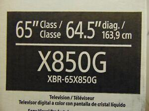 """SONY XBR-65X850G BRAVIA 65"""" Class 4K Ultra HD Smart HDR LED TV - XBR65X850G"""