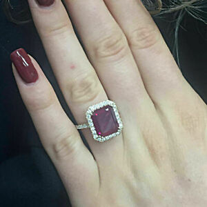 1-75-Ct-Emerald-Cut-Red-Ruby-Diamond-Halo-Engagement-Ring-14k-Yellow-Gold-Finish