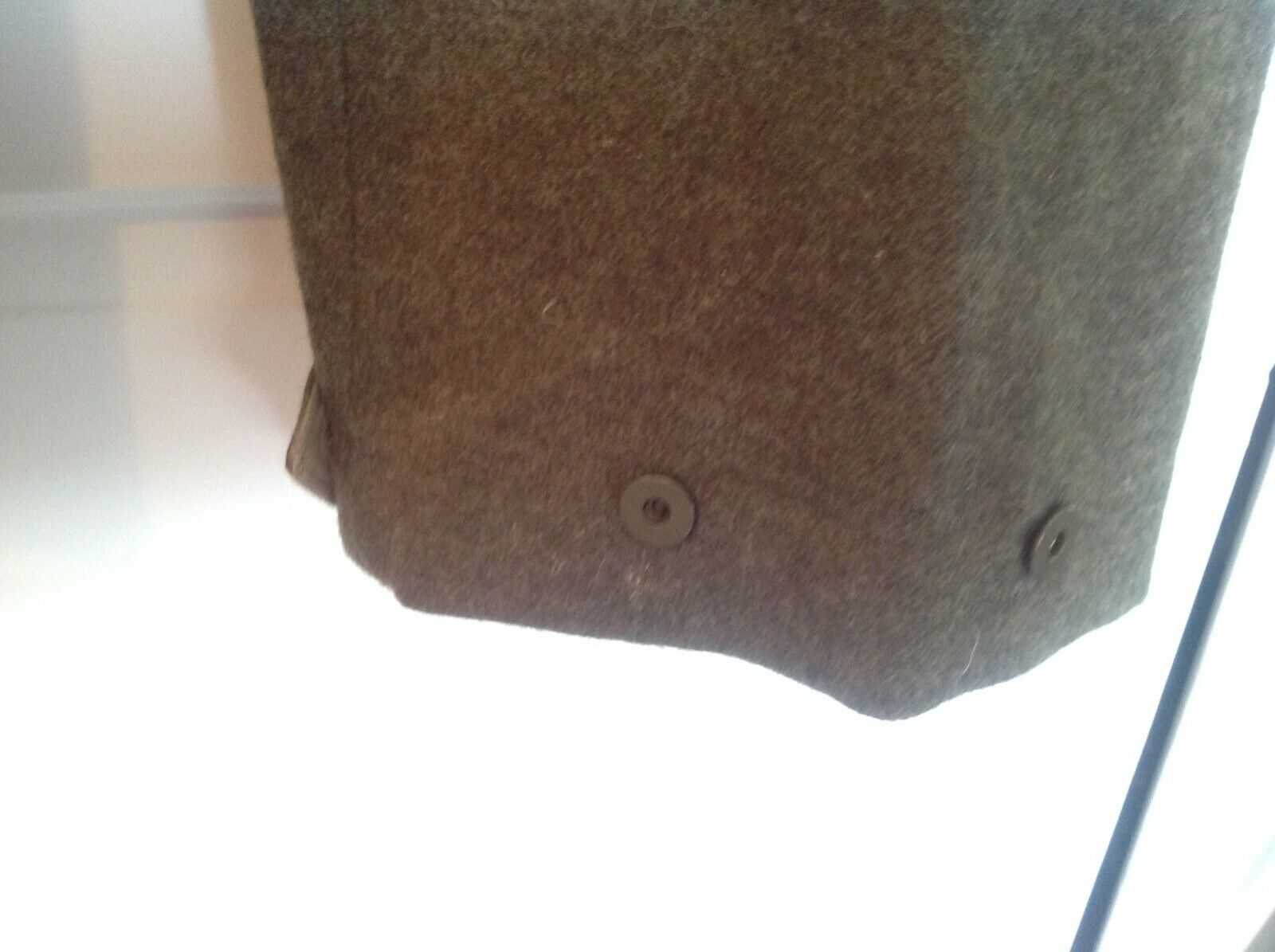 Vintage 1955 Canadian Olive Green Wool Military B… - image 3