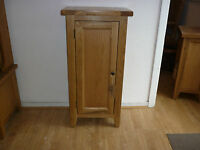Vancouver Petite Oak Storage1 Door Tall Cabinet Nb152 With X2 Removable Shelves