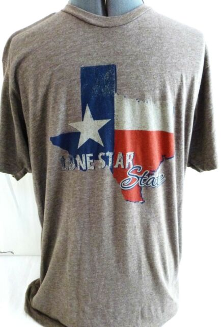 Texas-Lone Star State-Mens T-Shirt, Size Large, Texas Map Shirt