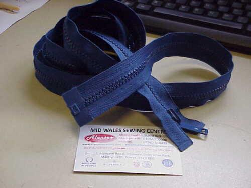 96 INCH HEAVY DUTY BLUE VISLON OPENENDED SEPERABLE ZIP