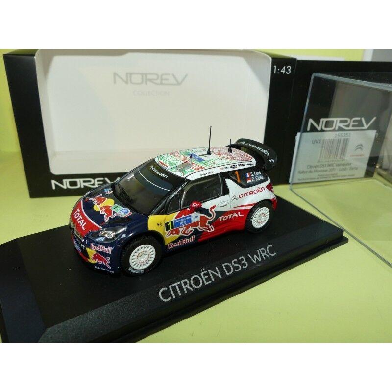 CITROEN DS3 WRC RALLYE DU MEXIQUE 2011 LOEB NOREV 1 43 1er