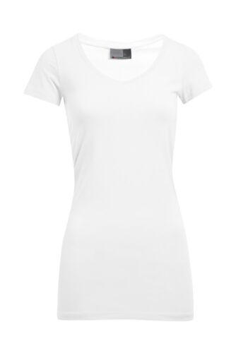Promodoro Damen T-Shirt WOMEN`S SLIM FIT V-NECK-T LONG V-Ausschnitt Neu E3087