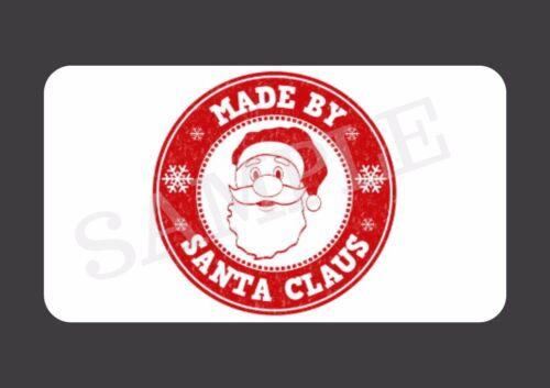 40 hecha por Santa Claus Brillo Mini Pegatinas Novedad Regalo De Navidad Etiquetas