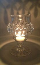 Thomas Webb Crystal Hurricane/ Candle Lamp