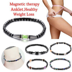 Weight-Loss-Black-Stone-Anklet-Anklet-Health-Magnetic-Ankle-Bracelet-JewelryFLA