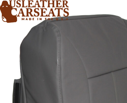 2001 Dodge Ram Driver Side Bottom Replacement Synthetic Leather Seat Cover Gray