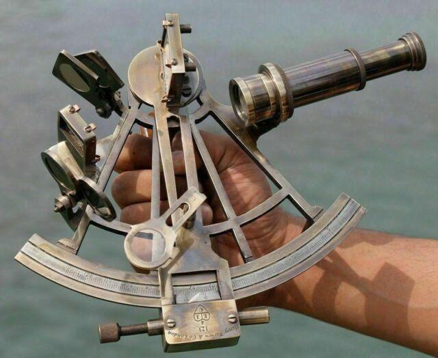 "Nautical Solid Brass 5/"" Marine Sextant Vintage Navigational Ship Insrtument."