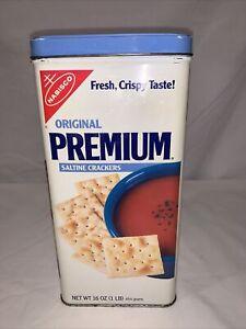 Vintage Nabisco Original Premium Saltine Crackers Tin
