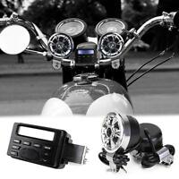 Fm Radio Mp4 Ipod Hi-fi Stereo Speakers System Fit Yamaha Cruiser Street Bike Us