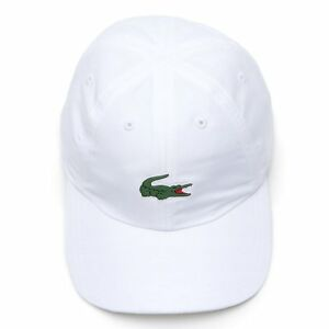 fa0be918f1 Lacoste Pem Casquette Blanc Homme | eBay