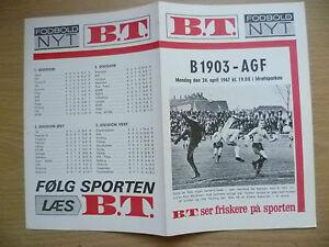 Football-Programme-1967-B-1903-v-AGF-24-April-Danish-Football-Programme